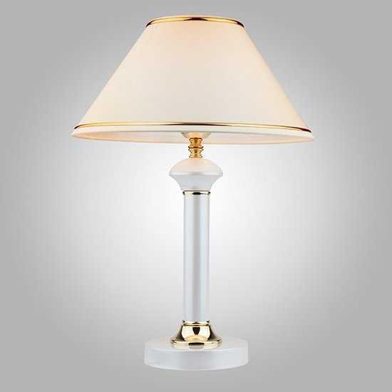 Фото №2 Настольная лампа 60019/1 глянцевый белый