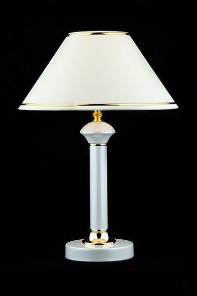 Фото №3 Настольная лампа 60019/1 глянцевый белый