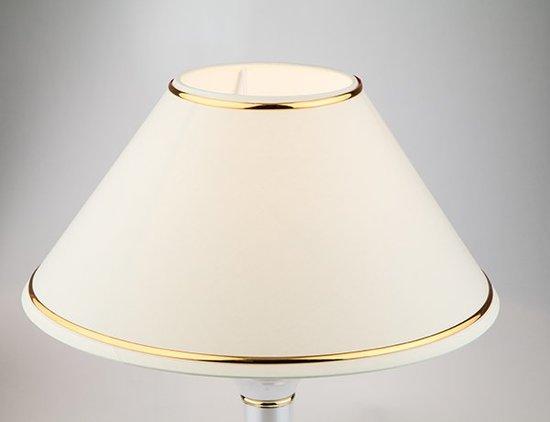 Фото №4 Настольная лампа 60019/1 глянцевый белый