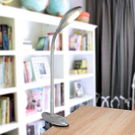 Фото №6 Светодиодная настольная лампа 90198/1 серебристый