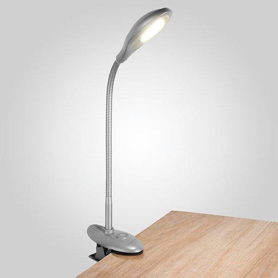 Фото №7 Светодиодная настольная лампа 90198/1 серебристый