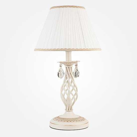 Фото №2 Настольная лампа 10054/1 белый с золотом