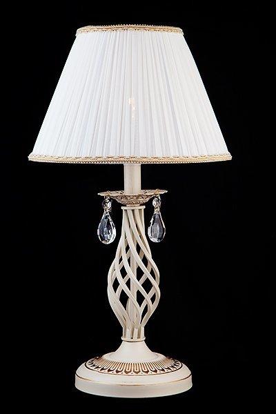 Фото №3 Настольная лампа 10054/1 белый с золотом
