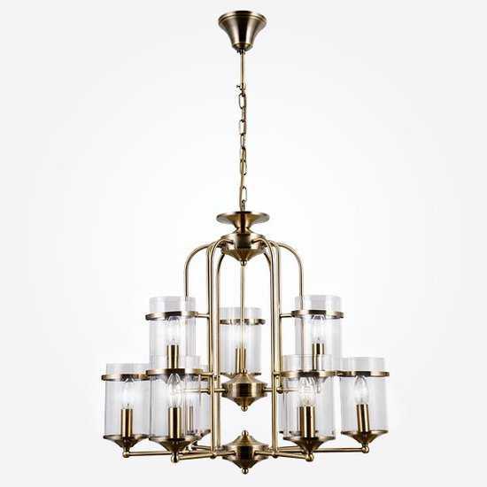 Подвесная люстра в стиле лофт 60040/9 античная бронза фото