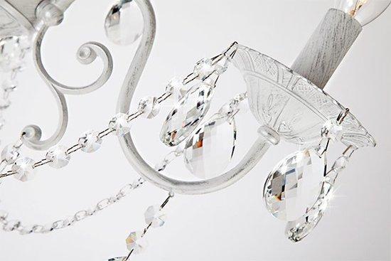 Фото №4 Люстра с хрусталем 10064/3 белый с серебром