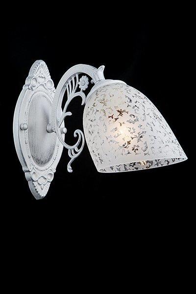 Фото №4 Бра в классическом стиле 70039/1 белый с серебром