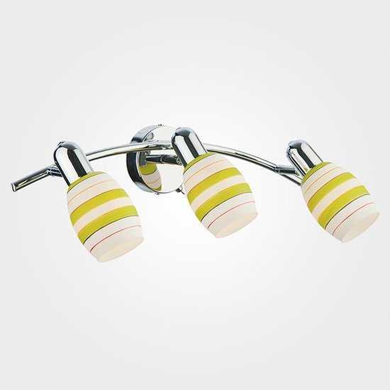 Фото №2 Настенный светильник с поворотными плафонами 20055/3 хром