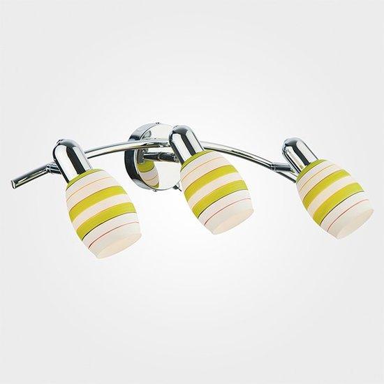Фото №3 Настенный светильник с поворотными плафонами 20055/3 хром