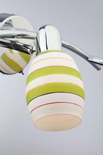 Фото №5 Настенный светильник с поворотными плафонами 20055/3 хром