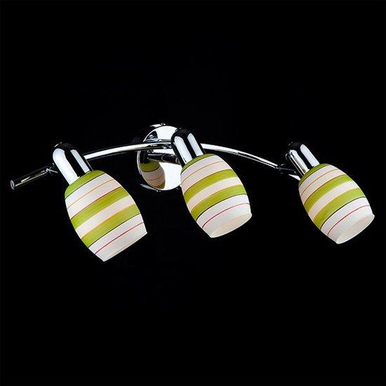 Фото №6 Настенный светильник с поворотными плафонами 20055/3 хром