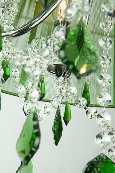 Фото №4 Люстра с цветным хрусталем 3125/5 хром/зелёный Strotskis