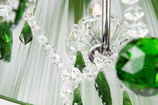 Фото №9 Люстра с цветным хрусталем 3125/5 хром/зелёный Strotskis