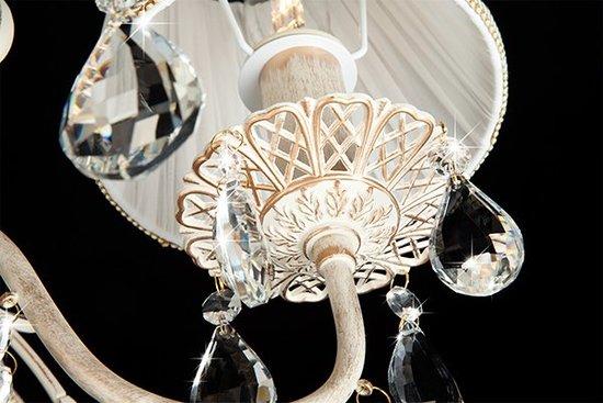 Фото №12 Люстра с хрусталем 10054/5 белый с золотом