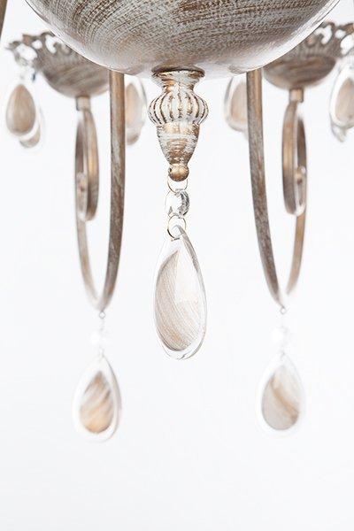 Фото №15 Люстра подвесная 10009/12 белый с золотом