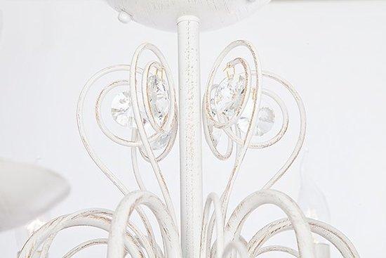 Фото №4 Люстра с двойным вариантом крепления 60018/6 белый с золотом