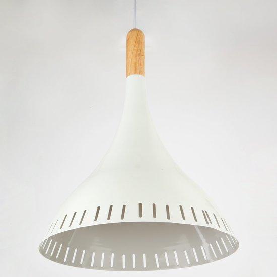 Фото №4 Подвесной светильник 50074/1 белый/светлое дерево
