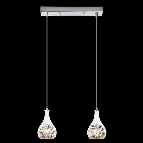 Подвесной светильник 50010/2 хром фото