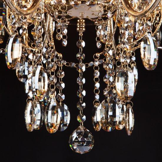 Фото №13 Люстра с тонированным хрусталем 10025/8 золото