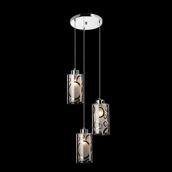 Подвесной светильник 50000/3 хром фото