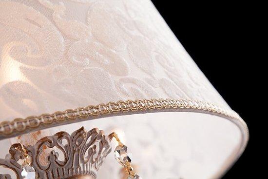 Фото №4 Люстра с хрусталем 10008/4 белый с золотом