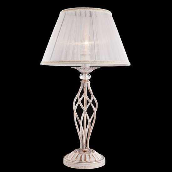 Фото №2 Настольная лампа 01002/1 белый с золотом