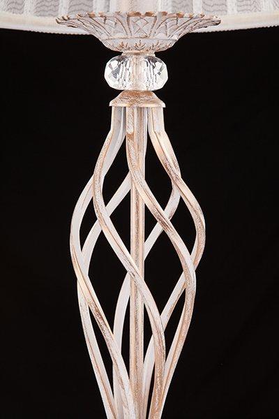 Фото №3 Настольная лампа 01002/1 белый с золотом