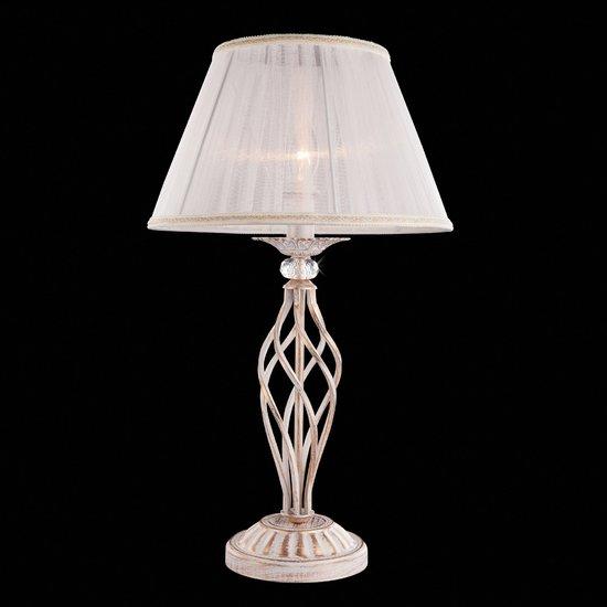 Фото №7 Настольная лампа 01002/1 белый с золотом