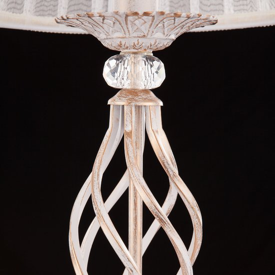 Фото №8 Настольная лампа 01002/1 белый с золотом