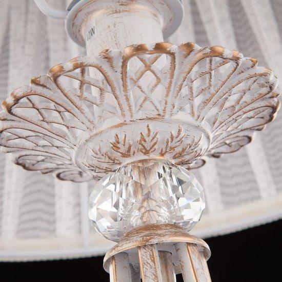 Фото №9 Настольная лампа 01002/1 белый с золотом