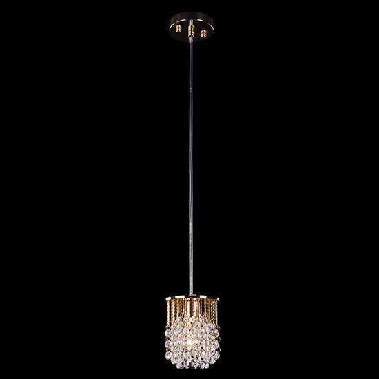 Подвесной светильник с хрусталем 3121/1 золото / прозрачный хрусталь фото