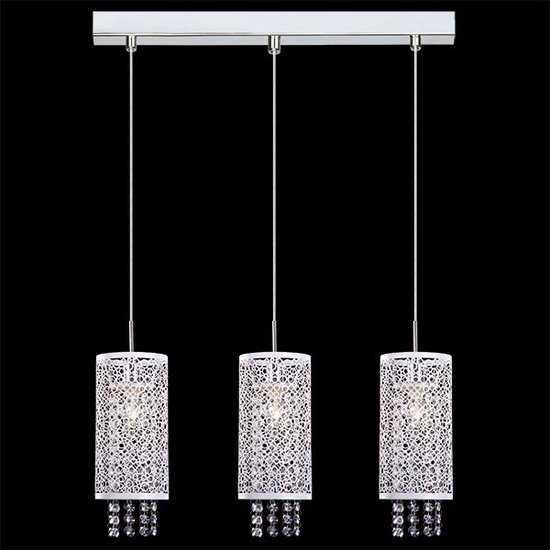 Подвесной светильник с хрусталем 1181/3 хром фото