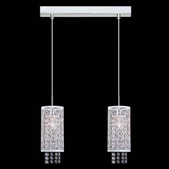 Подвесной светильник с хрусталем 1181/2 хром фото