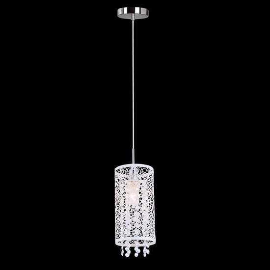 Подвесной светильник с хрусталем 1181/1 хром фото