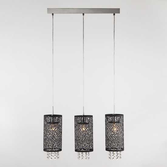 Подвесной светильник с хрусталем 1180/3 хром фото