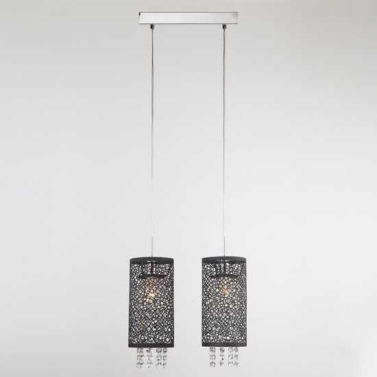 Подвесной светильник с хрусталем 1180/2 хром фото