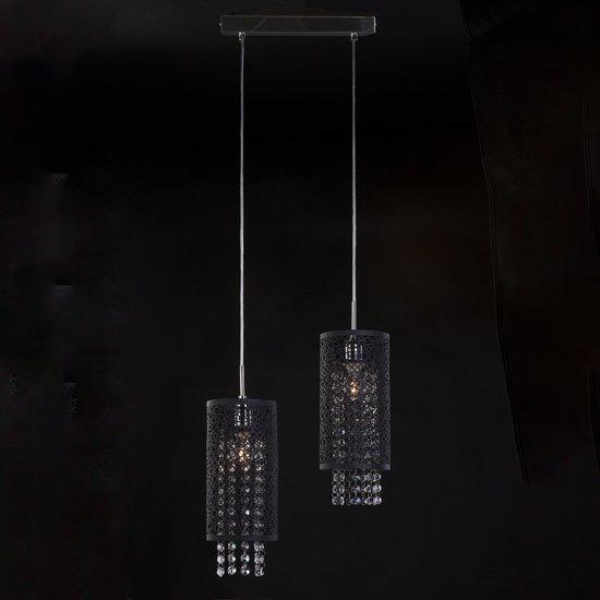 Фото №3 Подвесной светильник с хрусталем 1180/2 хром