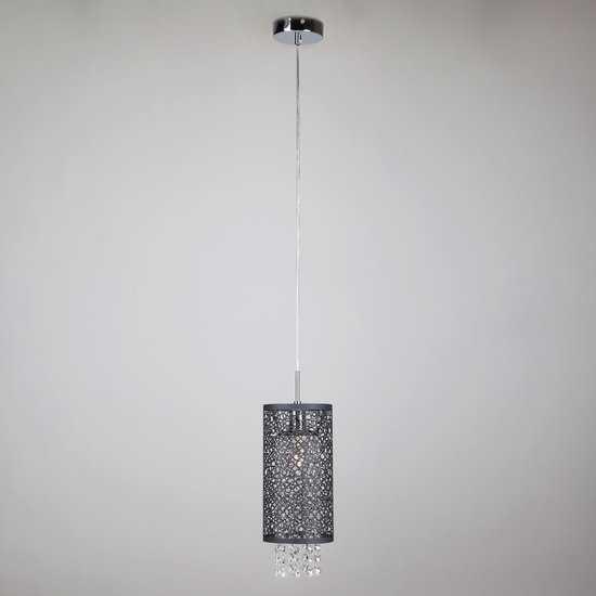 Подвесной светильник с хрусталем 1180/1 хром фото