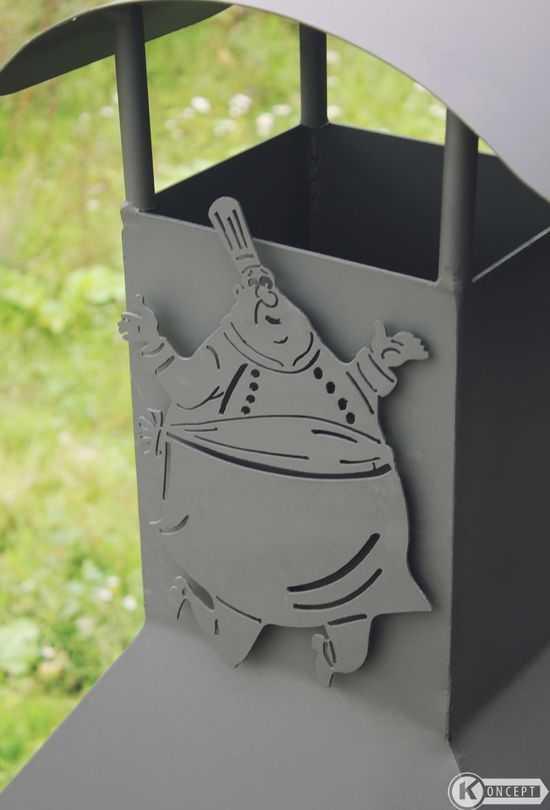 Декоративное украшение для мангала Поваренок 2 фото