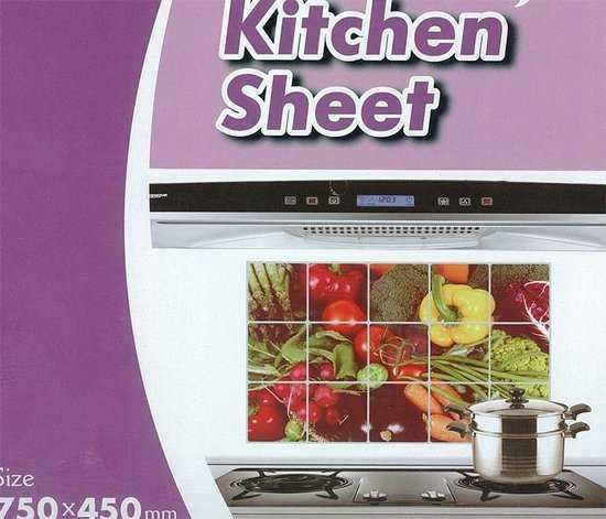 Экран защитный кухонный 75 х 45 см фото