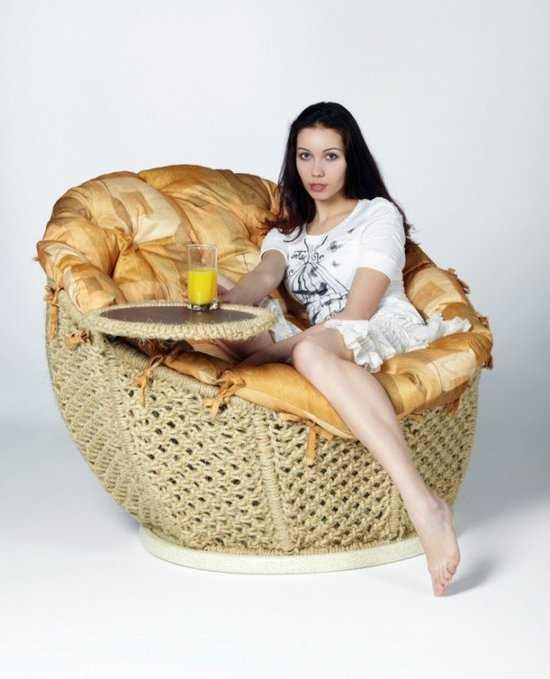 """Кресло сизалевое """"Омега"""" со столиком фото"""