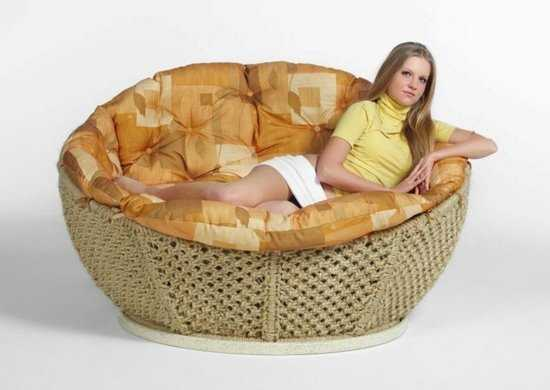"Кресло сизалевое ""Фантазия"" фото"