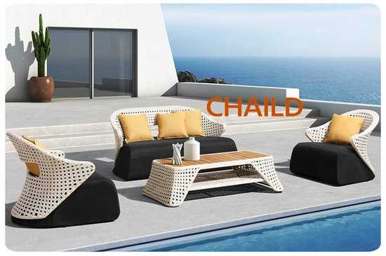 Комплект мебели из ротанга CHAILD-202010 лаунж сет фото