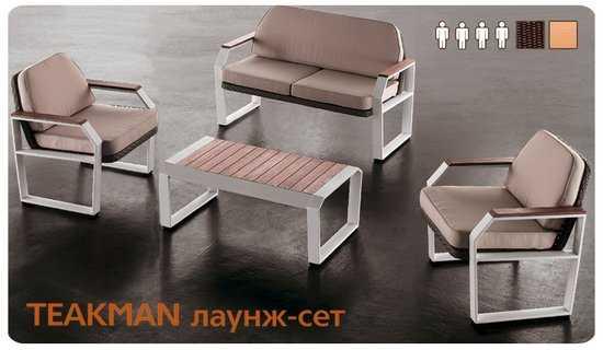 Комплект мебели из ротанга TEAKMAN-201820 лаунж сет фото