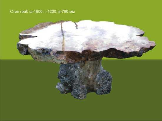 Стол из Тополя Гриб фото