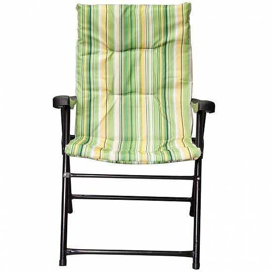 Кресло складное Зеленое (полоска) фото