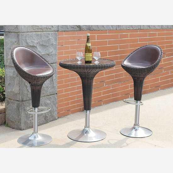 Набор 2 барных стула и стол Derong фото