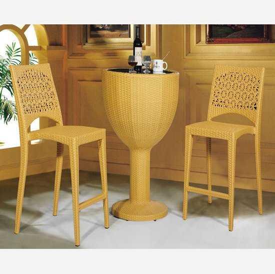 Набор 2 барных стула и стол Derong КМ 4105 фото
