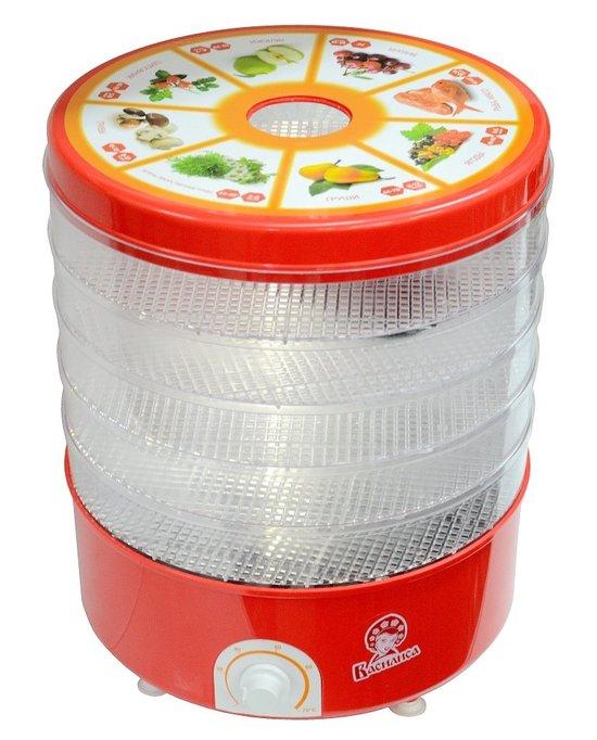 Сушилка электрическая для овощей и фруктов прозрачная Василиса СО3-520 фото