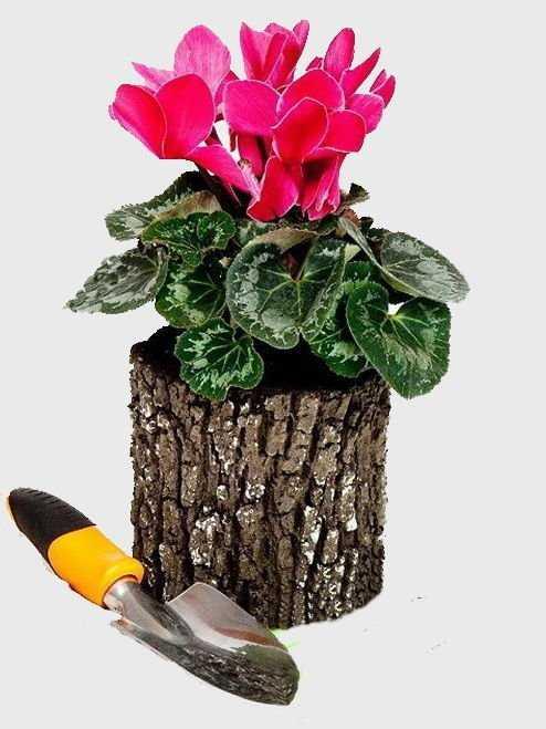 Горшок-цветочница вертикальный S фото