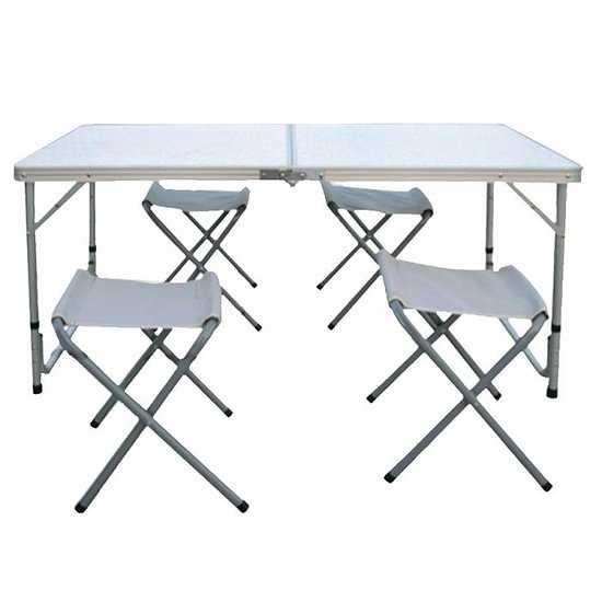 стол складной с 4-мя складными стульями НТО9-0055/5 фото